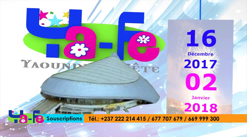 Selon un communiqué publié hier, 18 décembre 2017 par les organisateurs de «Yaoundé en Fête», l'événementinitialement prévue au palais des sports de Yaoundé aura lieu au «Boulevard du 20 Mai» pour des «raisons de sécurité» indique le communiqué.