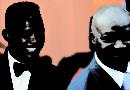 Samuel Eto'o Fils et Roger Milla